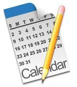 calendar and pencil clip art