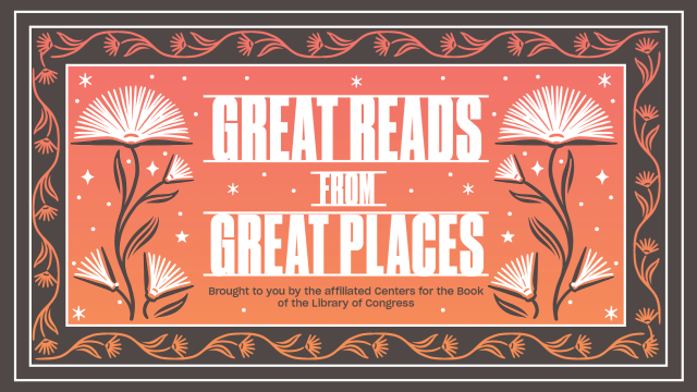 """Colorful graphic with """"Great Reads from Great Places"""" written on it"""