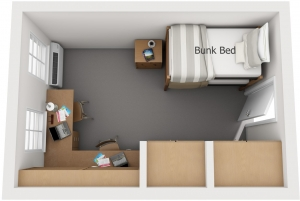 Double bunk floorplan