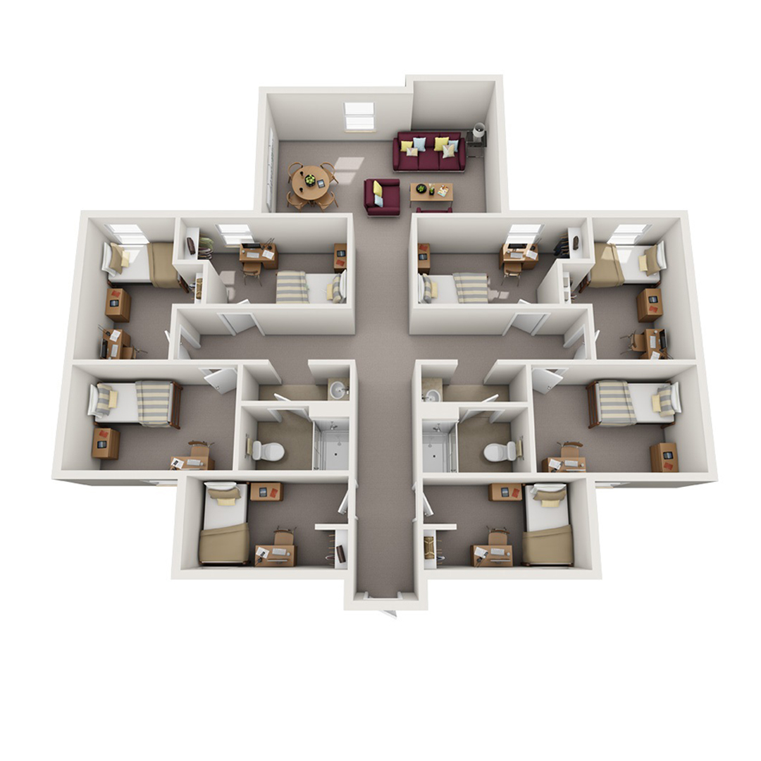 8 bedroom floorplan