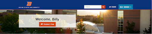 Example student portal showing clearance to be on campus