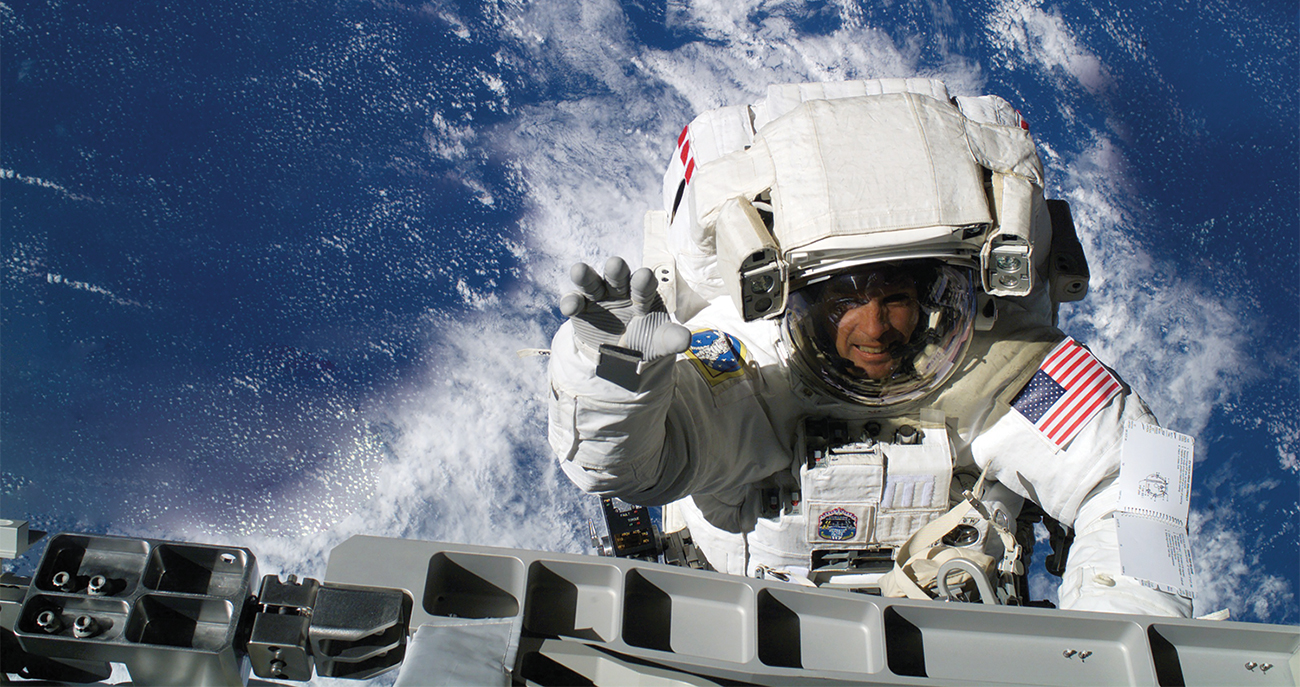 Former NASA astronaut Steve Swanson in space