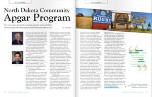 scan of pages from North Dakota Community Apgar Program article